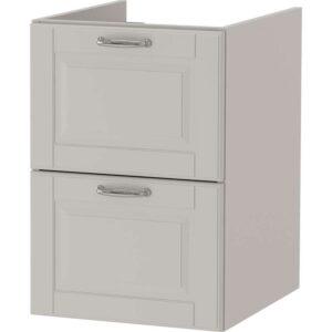 ГОДМОРГОН Шкаф для раковины с 2 ящ Кашён светло-серый 40x47x58 см - Артикул: 003.922.58
