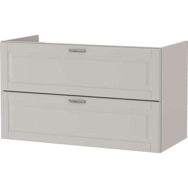 ГОДМОРГОН Шкаф для раковины с 2 ящ Кашён светло-серый 100x47x58 см - Артикул: 303.876.65