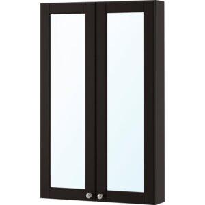 ГОДМОРГОН Зеркальный шкаф с 2 дверцами Кашён темно-серый 60x14x96 см - Артикул: 303.995.93