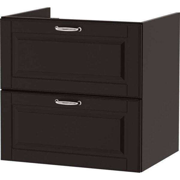 ГОДМОРГОН Шкаф для раковины с 2 ящ Кашён темно-серый 60x47x58 см - Артикул: 903.876.34