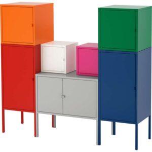 ЛИКСГУЛЬТ Комбинация д/хранения красный/оранжевый/серый розовый/белый/синий/зеленый 130x117 см - Артикул: 092.488.60