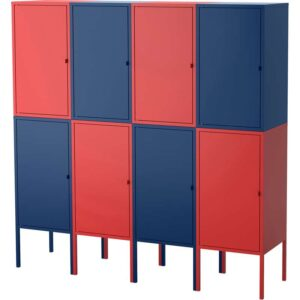 ЛИКСГУЛЬТ Комбинация д/хранения темно-синий/красный 140x142 см - Артикул: 092.489.21