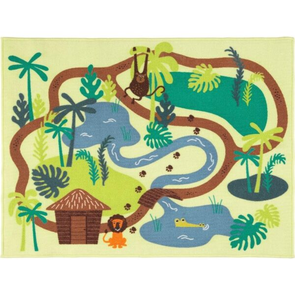 ДЬЮНГЕЛЬСКОГ Ковер, короткий ворс джунгли/деревья 133x100 см - Артикул: 103.937.66