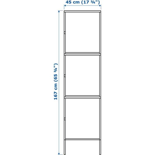 ХЭЛЛАН Комбинация для хранения с дверцами белый 45x47x167 см - Артикул: 092.493.98
