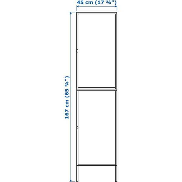 ХЭЛЛАН Комбинация для хранения с дверцами белый 45x47x167 см - Артикул: 392.494.05