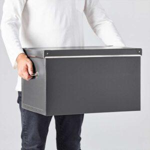 ФЬЕЛЛА Коробка с крышкой темно-серый 35x56x30 см - Артикул: 303.956.70