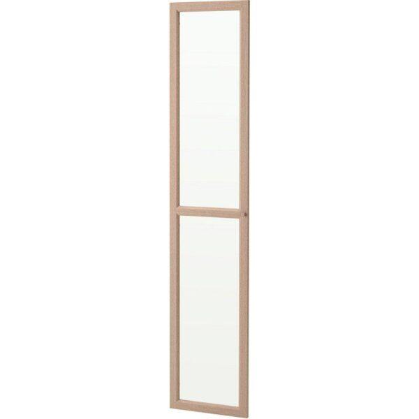 ОКСБЕРГ Стеклянная дверь дубовый шпон, беленый 40x192 см - Артикул: 504.041.93