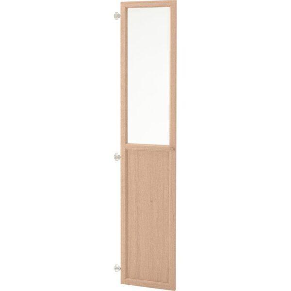ОКСБЕРГ Панельн/стеклян дверца дубовый шпон, беленый 40x192 см - Артикул: 004.041.95