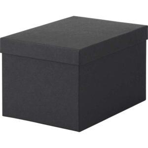 ТЬЕНА Коробка с крышкой черный 18x25x15 см - Артикул: 103.954.78