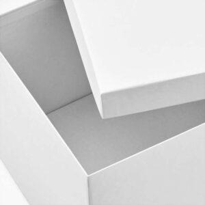 ТЬЕНА Коробка с крышкой белый 18x25x15 см - Артикул: 803.954.27