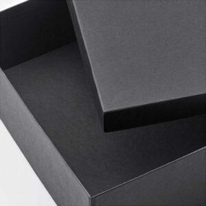 ТЬЕНА Коробка с крышкой черный 25x35x10 см - Артикул: 003.954.88