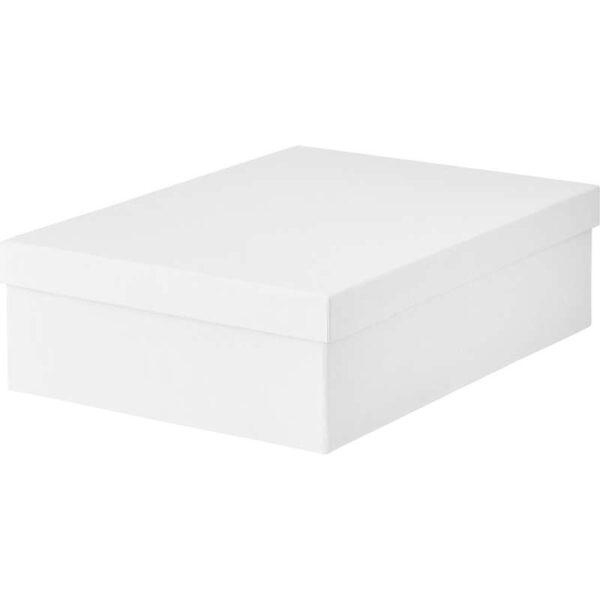 ТЬЕНА Коробка с крышкой белый 25x35x10 см - Артикул: 703.954.23
