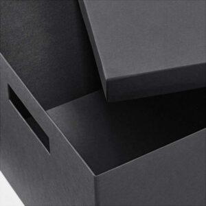 ТЬЕНА Коробка с крышкой черный 25x35x20 см - Артикул: 103.954.83