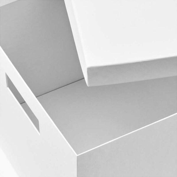 ТЬЕНА Коробка с крышкой белый 25x35x20 см - Артикул: 203.954.30