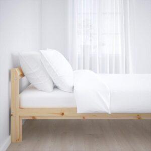 НЕЙДЕН Каркас кровати, береза сосна + ламели Лурой, 160x200 см. Артикул: 992.486.10