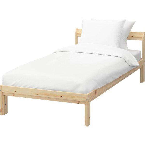 НЕЙДЕН Каркас кровати, сосна + ламели Лурой, 90x200 см. Артикул: 692.486.02