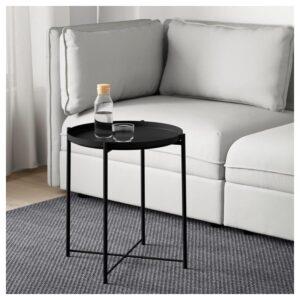 ГЛАДОМ Стол сервировочный черный 45x53 см - Артикул: 704.336.08
