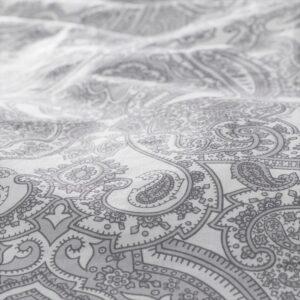 ЙЭТТЕВАЛЛМО Пододеяльник и 1 наволочка, белый/серый 150x200/50x70 см. Артикул: 304.061.50