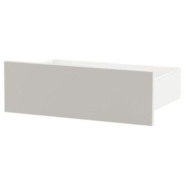 СКАТВАЛЬ Ящик, белый/светло-серый 60x42x20 см - Артикул: 092.418.06