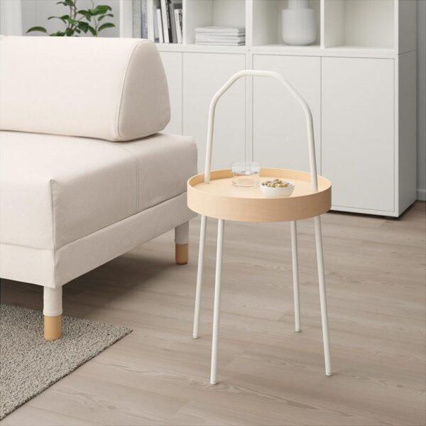 БУРВИК Придиванный столик белый 38 см - Артикул: 303.555.27