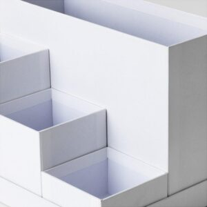 ТЬЕНА Подставка д/канцелярских принадлежн белый 18x17 см - Артикул: 403.954.53