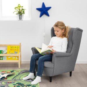 СТРАНДМОН Кресло детское Висле серый - Артикул: 003.925.45