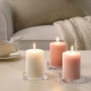 БЛОМДОРФ Формовая свеча, ароматическая душистый горошек/светло-оранжевый 10 см - Артикул: 703.705.35