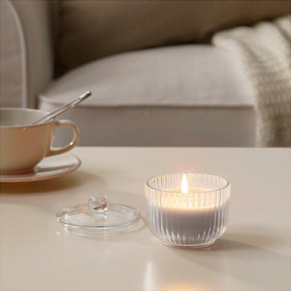 БЛОМДОРФ Ароматическая свеча в стакане Гладиолус/серый 9 см - Артикул: 403.705.32