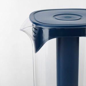 МОППА Кувшин с крышкой темно-синий/прозрачный 1.7 л - Артикул: 203.540.81