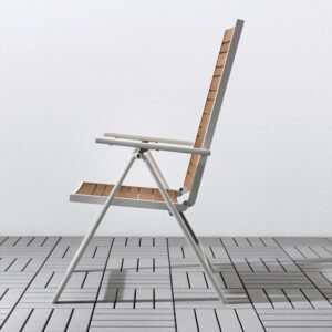 ШЭЛЛАНД Стол+4 кресла, д/сада светло-коричневый/светло-серый 156x90 см   Артикул: 292.654.86