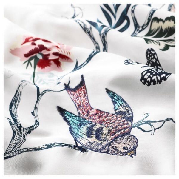 ЭТТЕЛИЛЬЯ Пододеяльник и 1 наволочка, белый/с цветочным орнаментом 150x200/50x70 см. Артикул: 604.125.31
