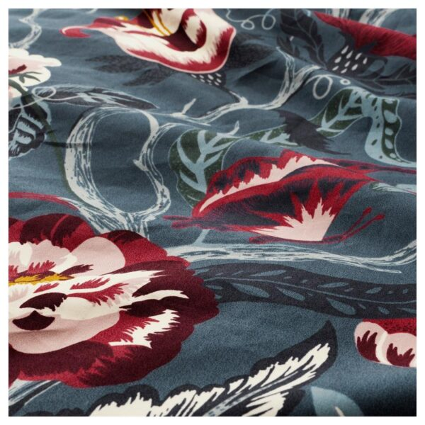 ФИЛОДЕНДРОН Пододеяльник и 1 наволочка, темно-синий/с цветочным орнаментом 150x200/50x70 см. Артикул: 904.125.58