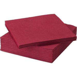 ФАНТАСТИСК Салфетка бумажная темно-красный 40x40 см - Артикул: 304.025.00