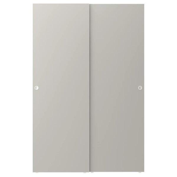 СКАТВАЛЬ Пара раздвижных дверей, светло-серый 120x180 см - Артикул: 403.860.24