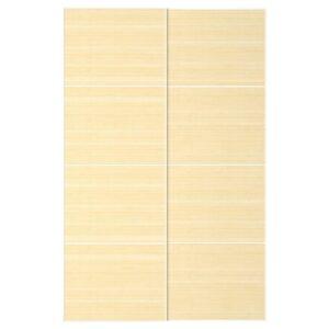 ФЬЕЛЬХАМАР Пара раздвижных дверей светлый бамбук 150x236 см - Артикул: 392.419.80