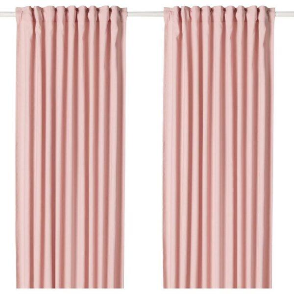 ХАННАЛЕНА Гардины, 1 пара светло-розовый 145x300 см - Артикул: 504.095.48