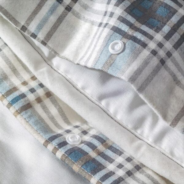 НОРДРУТА Пододеяльник и 1 наволочка, серый/синий 150x200/50x70 см. Артикул: 104.095.26