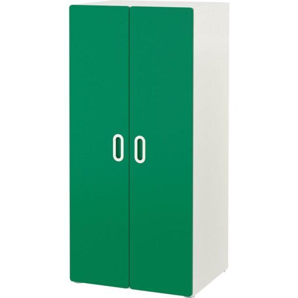 СТУВА / ФРИТИДС Шкаф платяной белый/зеленый 60x50x128 см   Артикул: 792.657.52
