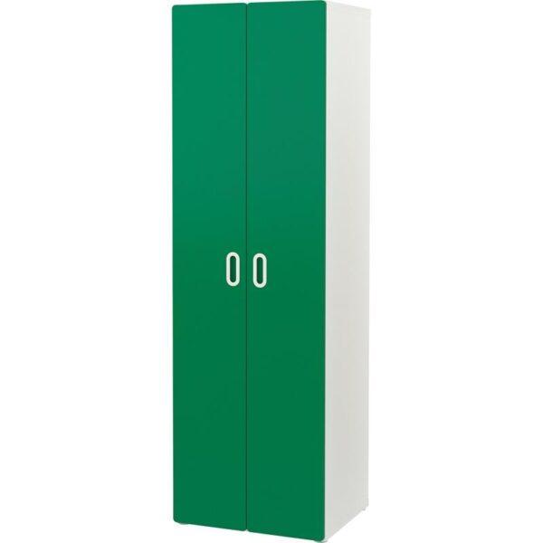 СТУВА / ФРИТИДС Гардероб белый/зеленый 60x50x192 см | Артикул: 492.658.76