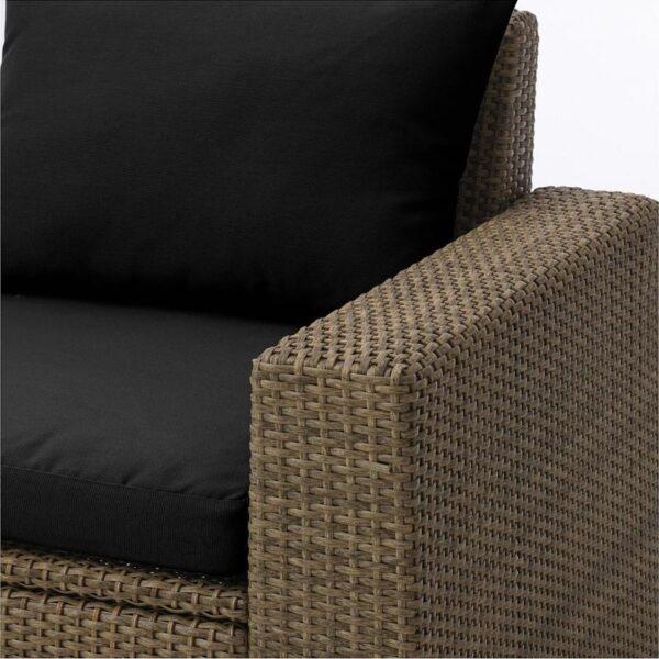 СОЛЛЕРОН Садовое кресло коричневый/Холло черный - Артикул: 592.611.37