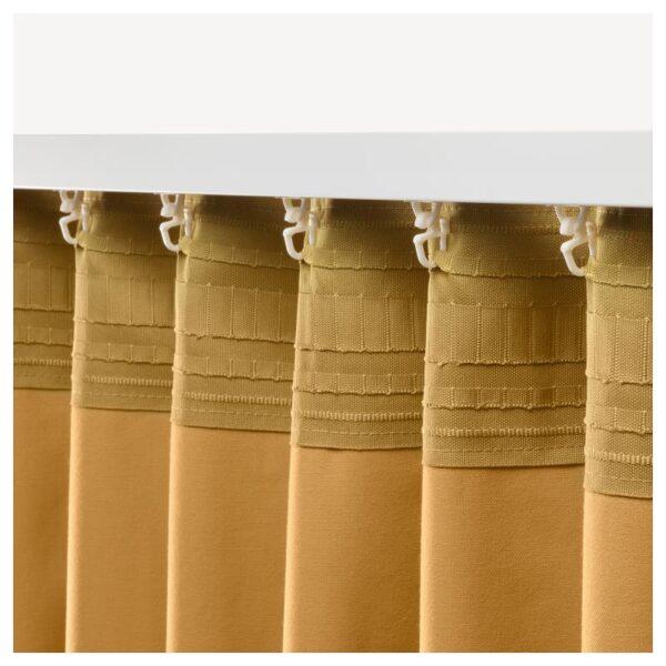 САНЕЛА Гардины, 1 пара золотисто-коричневый 140x300 см - Артикул: 904.189.04