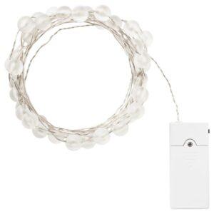 СНЁЙРА Гирлянда, 40 светодиодов для помещений/с батарейным питанием серебристый - Артикул: 804.213.65