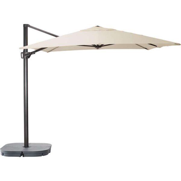 СЕГЛАРО / СВАРТО Зонт от солнца с опорой наклонный бежевый/темно-серый 330x240 см - Артикул: 192.290.07