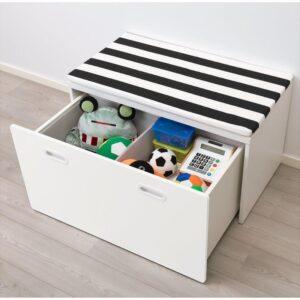 СТУВА / ФРИТИДС Скамья с отделением для игрушек белый/белый 90x50x50 см - Артикул: 192.526.39