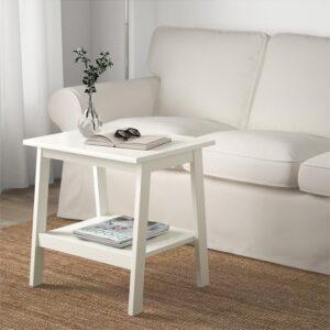 ЛУНАРП Придиванный столик белый 55x45 см - Артикул: 303.990.22