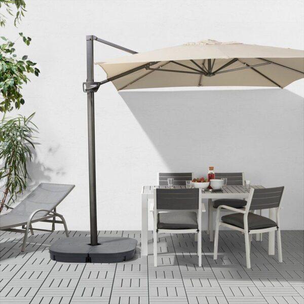 СЕГЛАРО Зонт от солнца, подвесной наклонный/бежевый 330x240 см - Артикул: 003.761.78