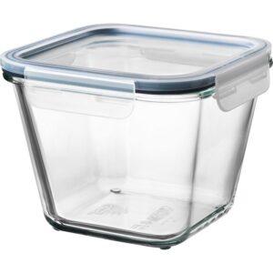 ИКЕА/365+ Контейнер для продуктов с крышкой четырехугольной формы стекло/пластик стекло 1.2 л | Артикул: 792.691.18