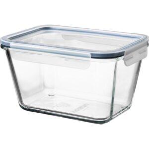 ИКЕА/365+ Контейнер для продуктов с крышкой прямоугольн формы стекло/пластик стекло 1.8 л | Артикул: 792.690.76