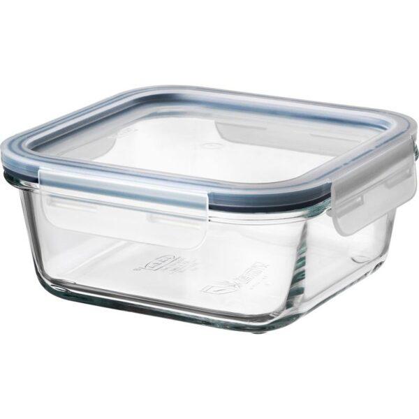 ИКЕА/365+ Контейнер для продуктов с крышкой четырехугольной формы стекло/пластик стекло 600 мл | Артикул: 992.691.22