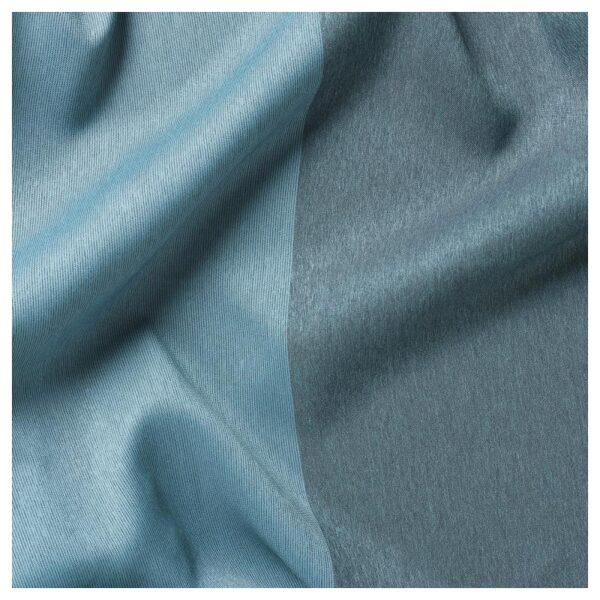 МАРЬЮН Гардины, блокирующие свет, 1 пара синий 145x300 см - Артикул: 604.140.64